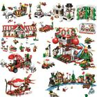 Friends Christmas Winter Village City Train Hot Air Balloon Sets Building Blocks