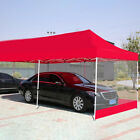 Heavy Duty Canopy Party Outdoor Wedding Tent Gazebo w/3 Side Walls Shelter Cover