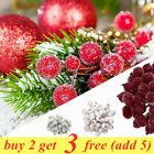 40-160x Red Artificial Berries,Fake Fruits Christmas Craft Berry Xmas Tree Decor