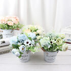 Artificial Flower Set(flower+vase)  Plants Potted Wedding Home Party Decoration√