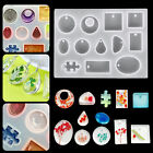 Silicone Resin Mold Jewelry Pendant Mould DIY Making Casting Epoxy Craft Tool US