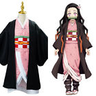 Kids Anime Demon Slayer Kimetsu no Yaiba Kamado Nezuko Cosplay Costume Outfit