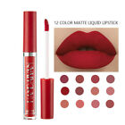 12 Colors Waterproof Liquid Matte Long Lasting Lip Gloss Velvet Lipstick Makeup