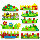 US KE DIY 9 Sets Kids Felt Garden Fence Craft Wall Stickers Kindergarten Decor