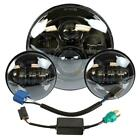 "7"" LED Headlight + 4.5"" Fog Passing Lights fits Harley Electra Glide Touring BLK"
