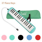 Glarry 37-Key Melodica with Mouthpiece & Hose & Bag Black/Green