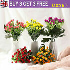 Hot 36 Heads Artificial Rose Flower Fake Silk Rose Bouquet Home Wedding Decor Gb