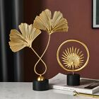 Creative Gold Home Decoration Accessories Modern Flowers Metal Gift Room Office