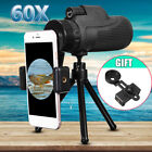 40X60 Zoom Optical 10X HD Lens Monocular Telescope Tripod +Clip For Cell Phone