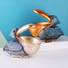 Creative Pelican Figurine Decoration Ornaments Key Bowl Holder Statue Home