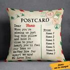 Personalized Christmas Letter To Grandma Postcard Pillow Cover Gift Home Decor