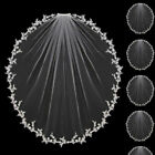 Wedding Veils Lace White Ivory Champagne Elbow Length Bridal Hair Accessories