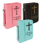 Leather Bible Covers for Women Men Custom Engraved Personalized Book Cover