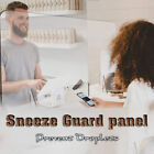 Sneeze Guard Panel For Checkout Reception Desk Protective Acrylic Shield Office