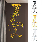 Removable 3d Mirror Flower Art Wall-sticker Acrylic Mural Decal Home Room Decor