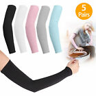 5Pair Cooling Arm Sleeves Outdoor Sports Golf Basketball UV Sun Protection Cover