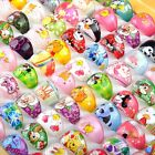 30/50/100PCS Wholesale Mixed Lots Children's Lucite Resin Rings Cute Jewellery