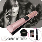 Portable USB Rechargeable 2in1 Hair Straightener Curler Flat Iron W/ Power 	 I