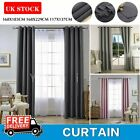 Insulated Heavy Thick Curtain Thermal Blackout Curtains Eyelet Ring Top Pair
