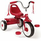 Kids Tricycle Bike Toddler Outdoor Folding Trike Adjustable Seat Red Or Pink New