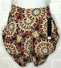 New Mix Ultra Soft Harem Shorts W/ Pockets High Waisted Red & Navy Aztec Suns