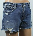 Polo Ralph Lauren Blue Crosby Denim Distressed Shorts NWT 98