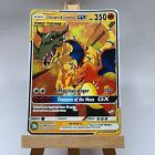 Greymon and Charizard Glurak GX Tag Team Pokemon Card in Holo