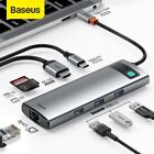 Baseus USB C HUB Type-C to HDMI USB 3.0 RJ45 Adapter PD Charger Dock for MacBook