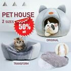 Igloo Cat Bed Soft Pet House Dogs Bed Puppy Basket Cushion Mat Kitten Cave Nest