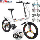 20In Folding 7-Speed ​​City Compact Suspension Bike Bicycle Urban Commuters New