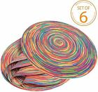 Braided Colorful Round Place mats for Kitchen Dining Table Runner Heat Insulatio