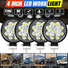 "4/2pc 4"" Round LED Spot Light Pods Work Flood Driving Fog Lamp Offroad ATV Truck"