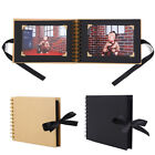 Simple 30 Pages Photo Album with Ribbon Scrapbook Picture Memory DIY Gift Useful