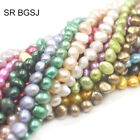 """Natural 6-7mm Freeform Freshwater Cultured Pearl Jewelry Making Bead Strand 14"""""""