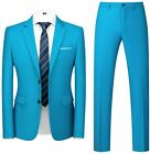 MOGU Mens Slim Fit Suit 2 Piece Tuxedo for Daily Business Wedding Party (Suit Ja