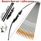 51 inch Takedown Recurve Bow Hunting & 12PCS Arrows Set Archery Right Left Hand