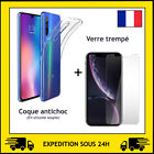 PROTECTION VERRE TREMPE + COQUE ANTI CHOC XIAOMI MI 9/9T/NOTE 10/REDMI 9C/8A/7A