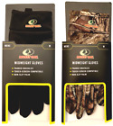 Mossy Oak Midweight Gloves Camo or Black Size Medium Men's Padded Knuckles NIB