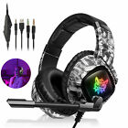 RGB LED 3.5mm Gaming Headset Noise Reduction Mic Headphone for Xbox one/PS4/PS5