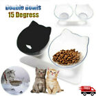 Non-slip Pet Food&Water Bowls Double Bowls With Raised Stand Cats Dogs Feeders
