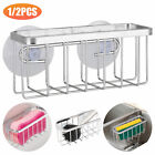 1/2X Kitchen Sink Drain Rack Sponge Holder Soap Hang Storage Shelf w/Suction Cup