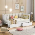 Twin Size Daybed With Storage Drawers Sofa Bed Living Room Bedroom Modern Rustic