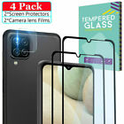 For Samsung Galaxy A12 A02S A21S A52 A32 Tempered Glass Screen +Lens Protector