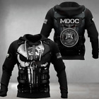 Warrior Hoodie 3D Soldier Army Skull Art Michigan Flag Gift Unisex Men Women