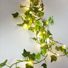 20 LED Leaves Ivy Leaf Fairy String Lights Garden Lamp Party Home Decor Xmas UK