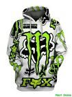 Men's Fox Racing 3D All Over Printed Hoodie US Size S-5XL