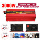 1600W 3000W Solar Powe Pure Sine Wave Inverter 12/24V DC to 110/220V AC LED