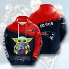 2021 New England Patriots  Yoda Hoodie GO PATS Pullover Fans Hooded Sweatshirt