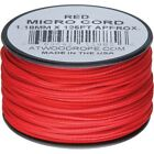 Atwood Rope MFG Ms03 - Red Micro 125' Jewelry Lanyard Emergency String Cord