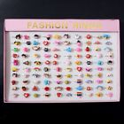 50/100Pcs Wholesale Mixed Lots Multi-Animal Children's Toy Acrylic Alloy Rings